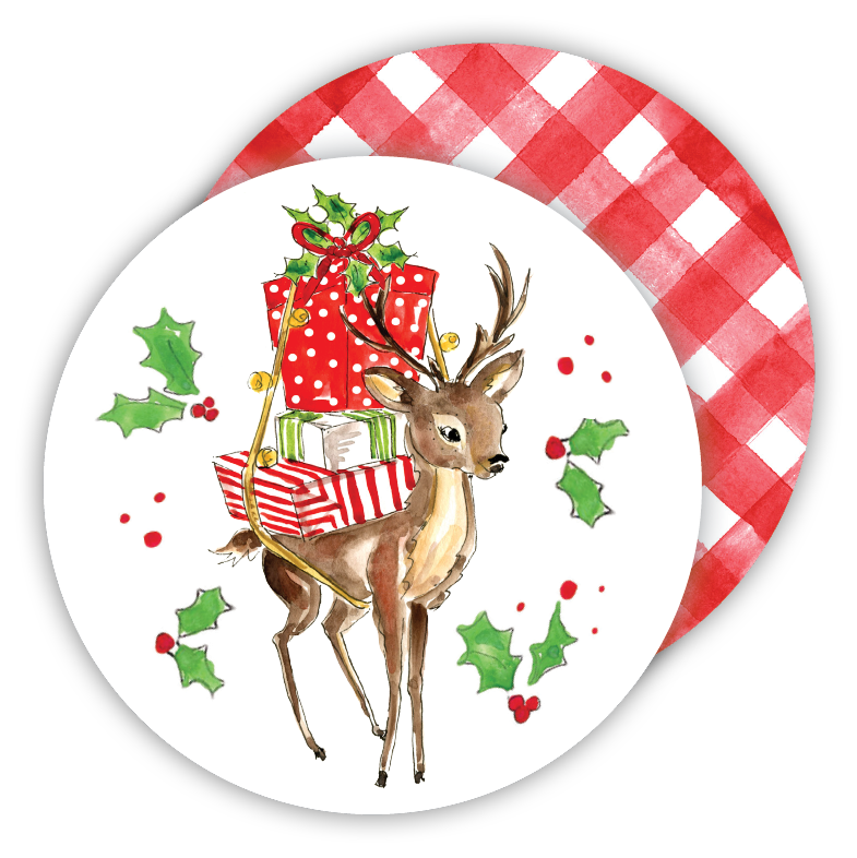 Reindeer with Presents Coaster Set