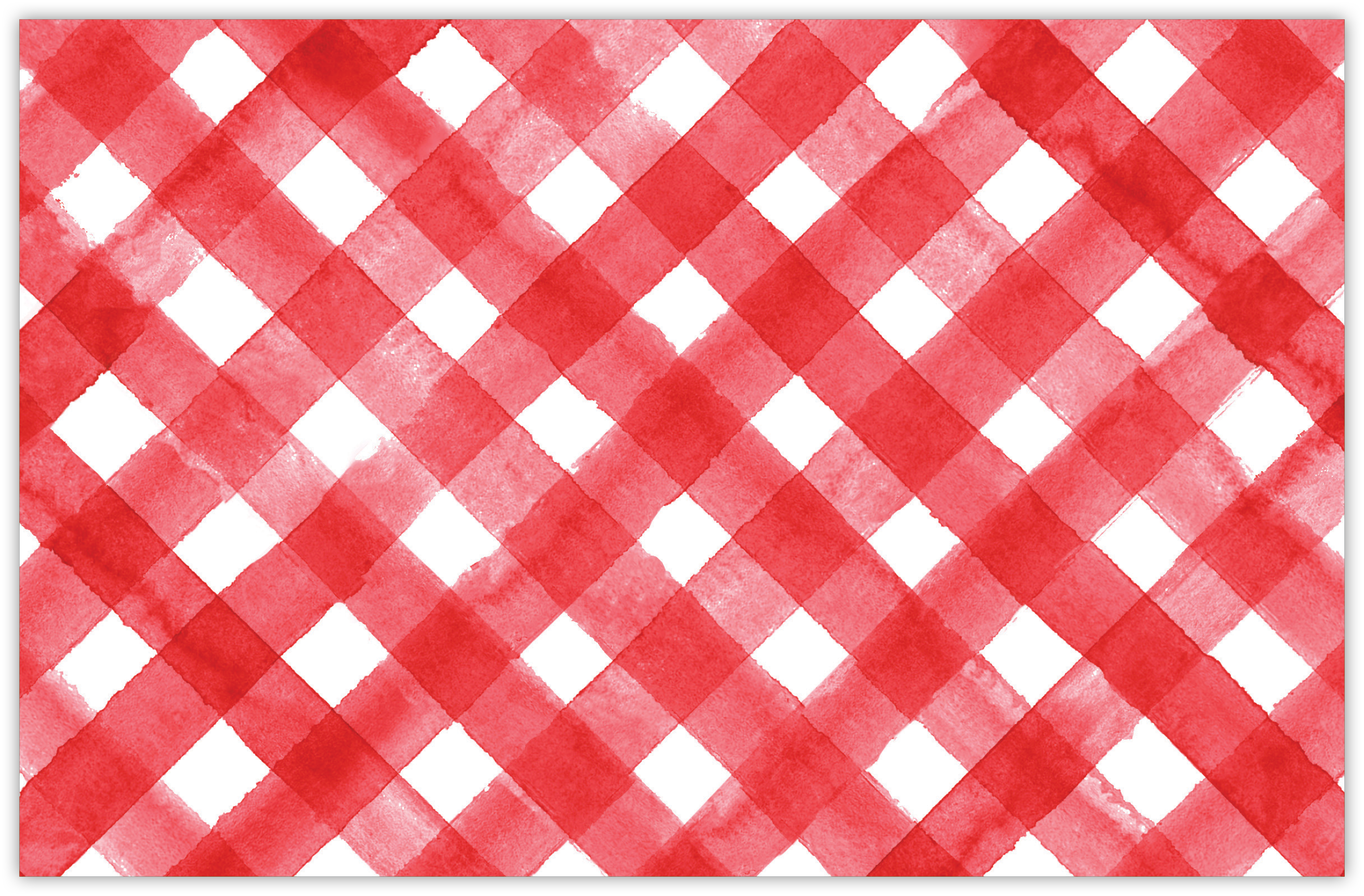 Red and White Plaid Placemat