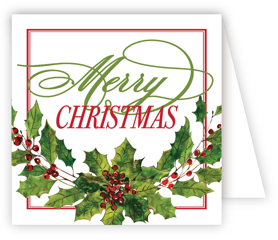 Merry Christmas Holiday Berries  Enclosure Card