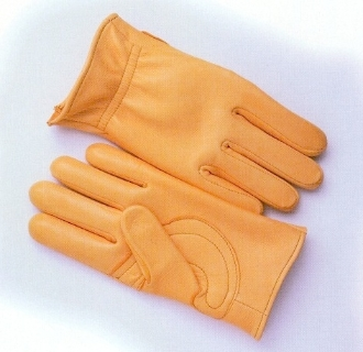 Deerskin Leather Gloves with Reinforced Palm