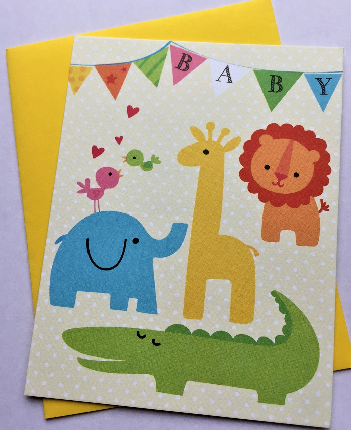 Baby Animals New Baby Card