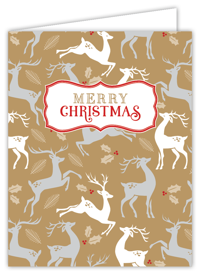 Merry Christmas Deer Card