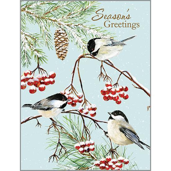 3 CHICKADEES BOXED CARDS