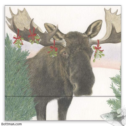 Matchbook Notepad - Mistletoe Moose