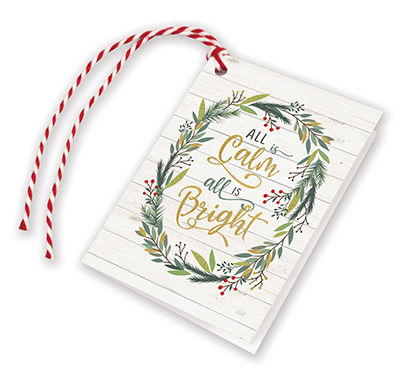 Pine Branch Wreath Gift Tags