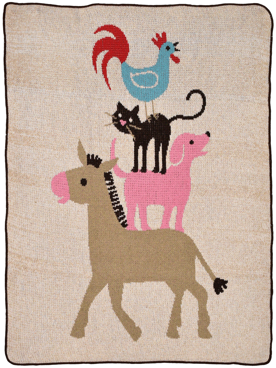 Child / Junior Throw Blanket - Stacked Animals