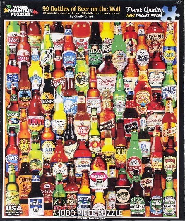 99 Bottles of Beer on the Wall-1000 Piece Jigsaw Puzzle