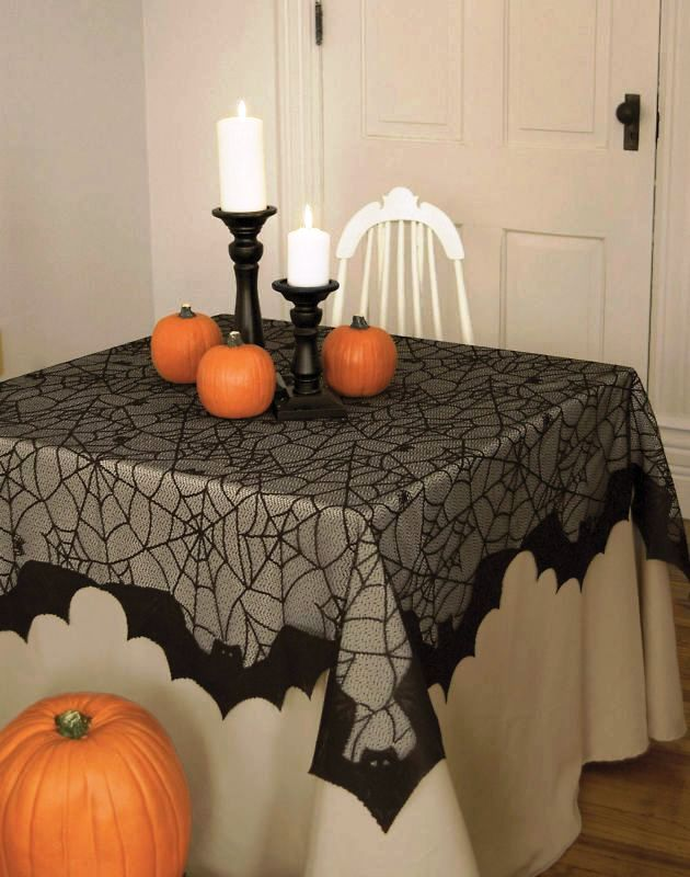 Bats and Spider Web Tablecloth