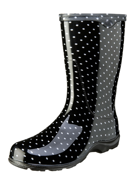 Black Dot Garden Boot
