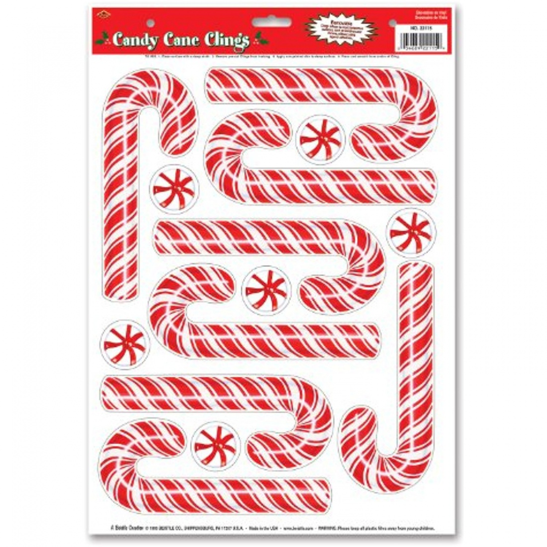 Candy Cane Clings