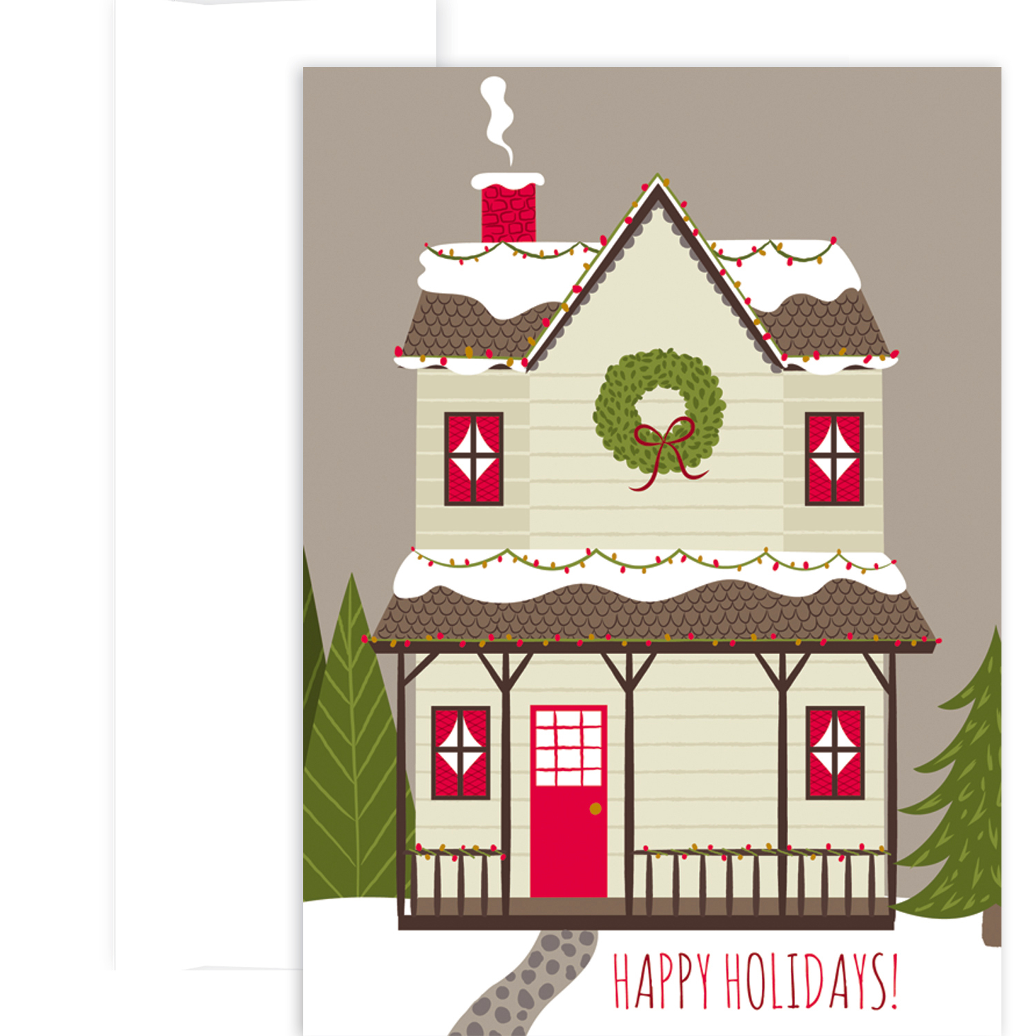 Cozy House Boxed Christmas Cards