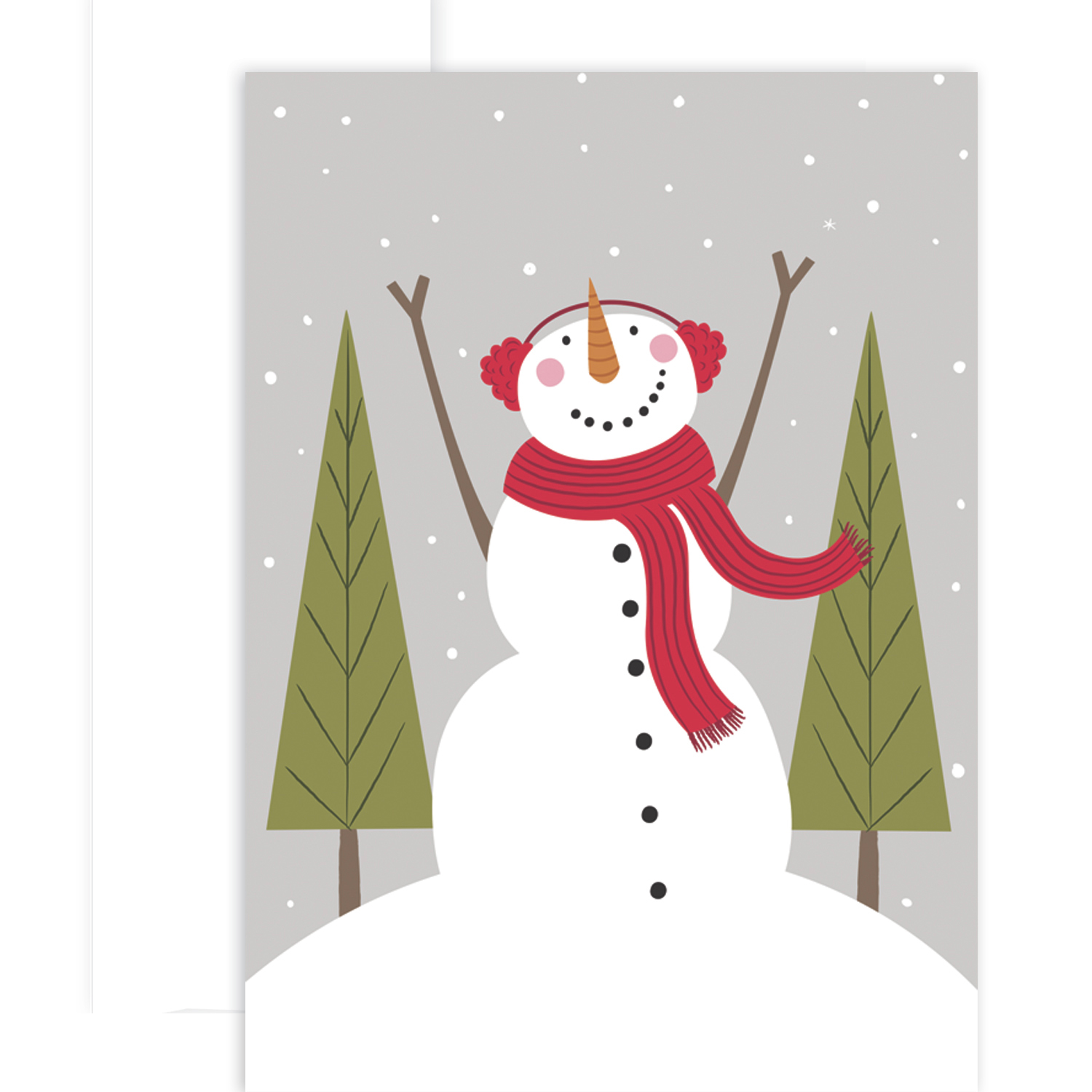 Cozy Snowman Holiday Boxed Cards