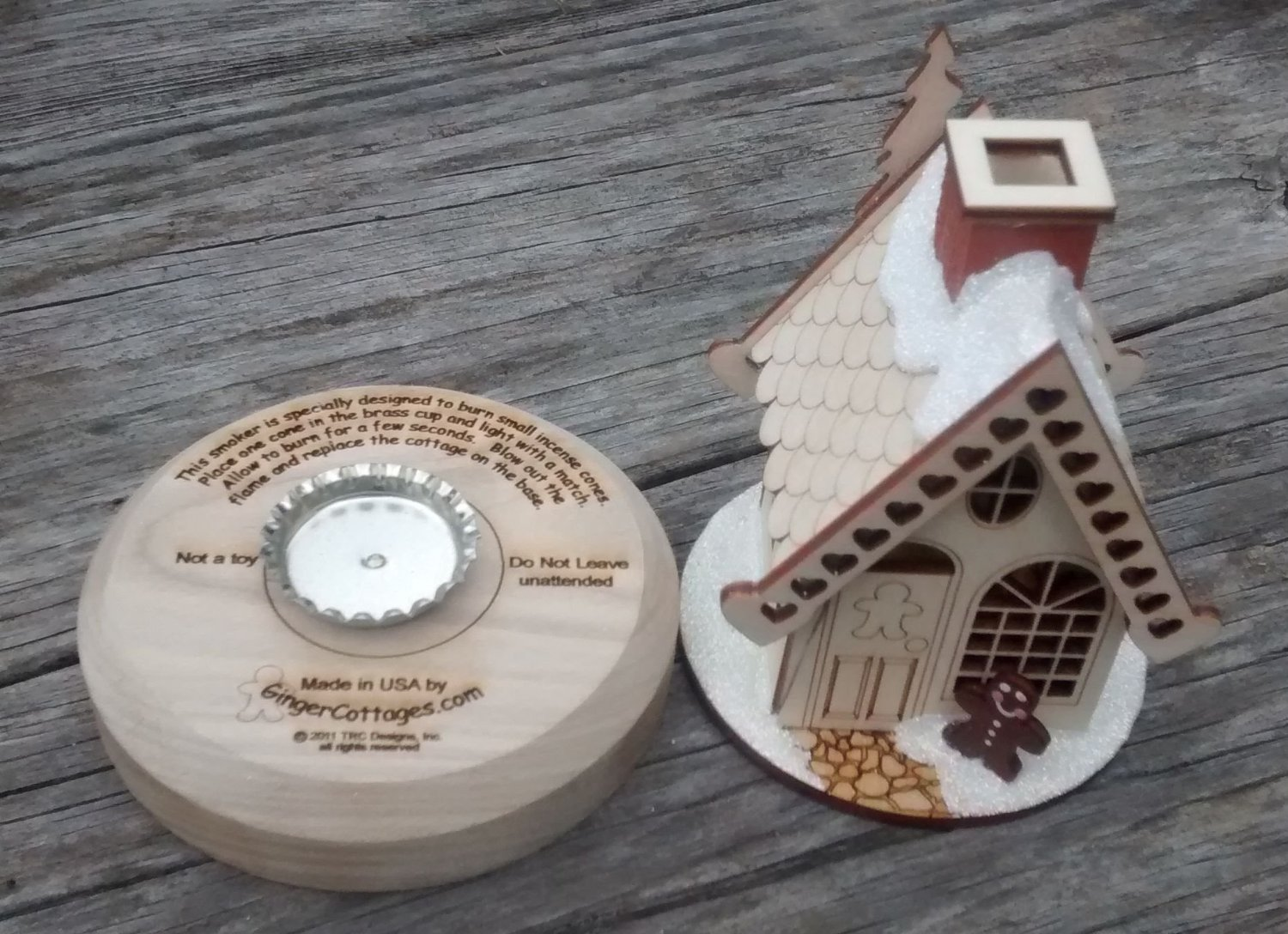 Ginger Cottage Incense Smoker