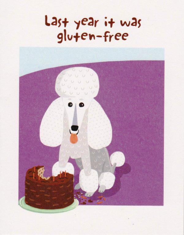 Happy Birthday-Last Year it was Gluten-free