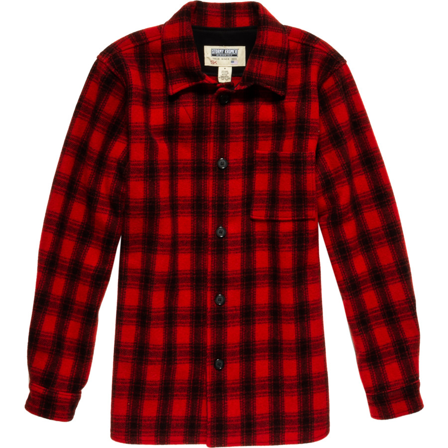 Stormy Kromer Red and Black Plaid Flannel Shirt