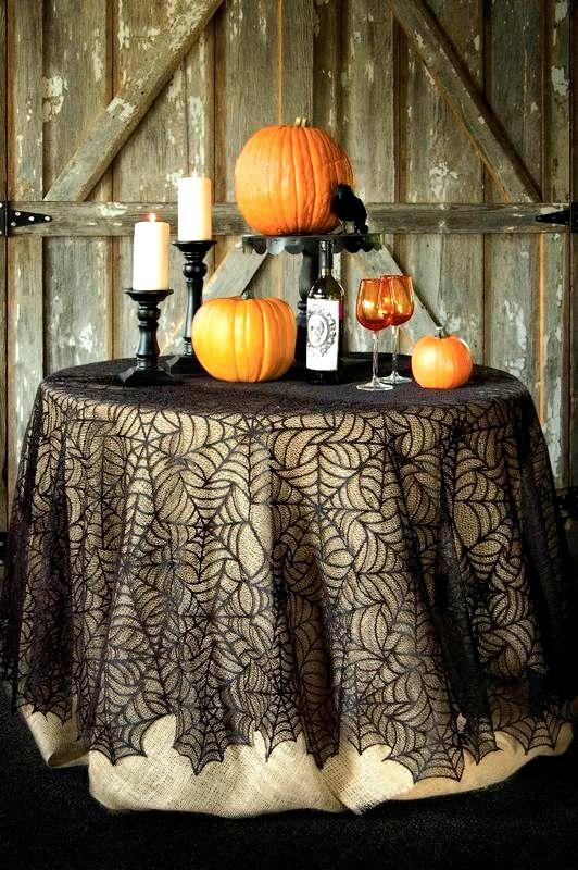 Spider Web Lace Tablecloth-90