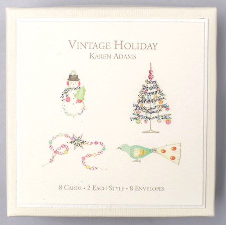 Vintage Holiday Gift Boxed Gift Enclosures