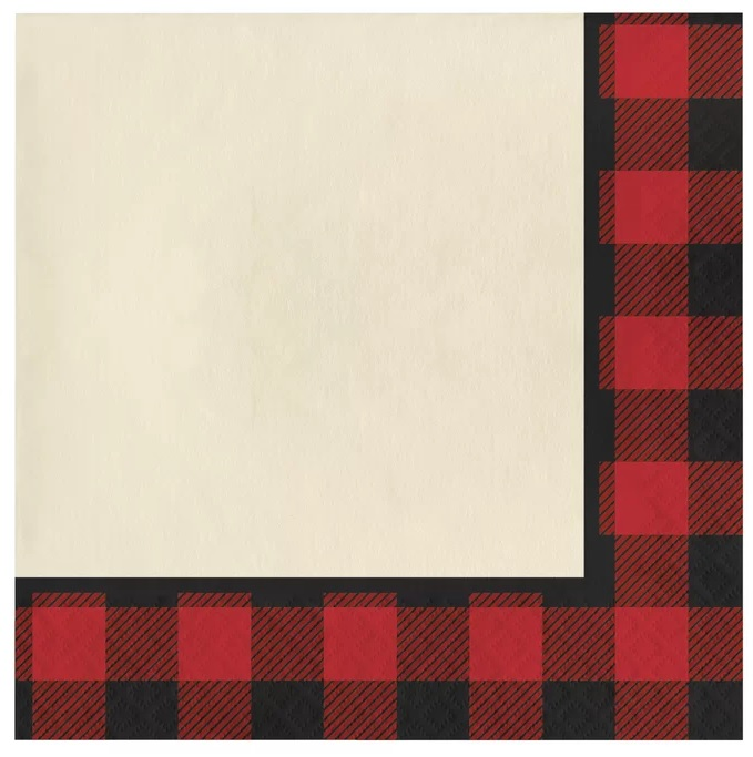 Buffalo Plaid Lunch Paper Napkin