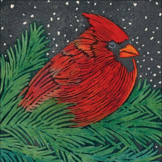 Cardinal in Evergreen - Gift Enclosures