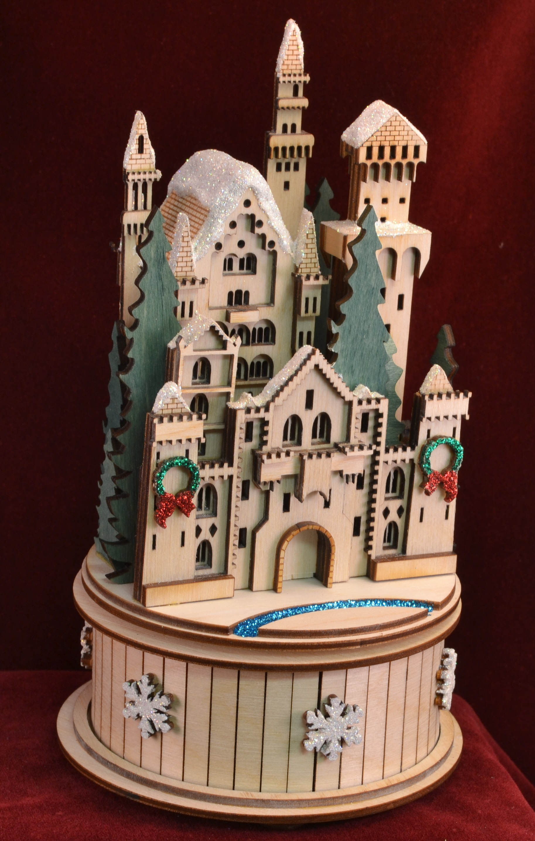 Snow Queen's Castle Music Box