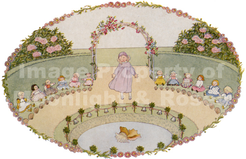 Dolls Around Pond Card
