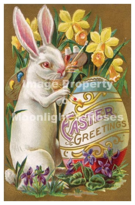 Easter Greetings Bunny & Daffodils
