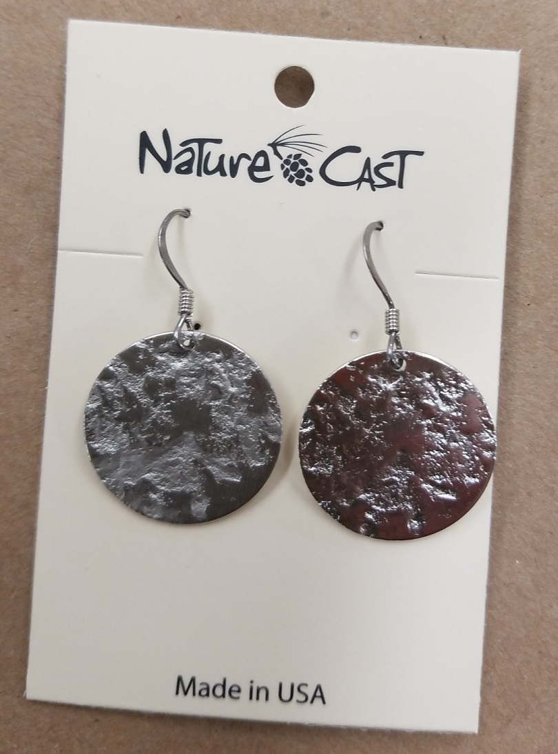 Granite Disk Dangle Earrings