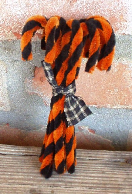 Halloween Chenille Candy Canes