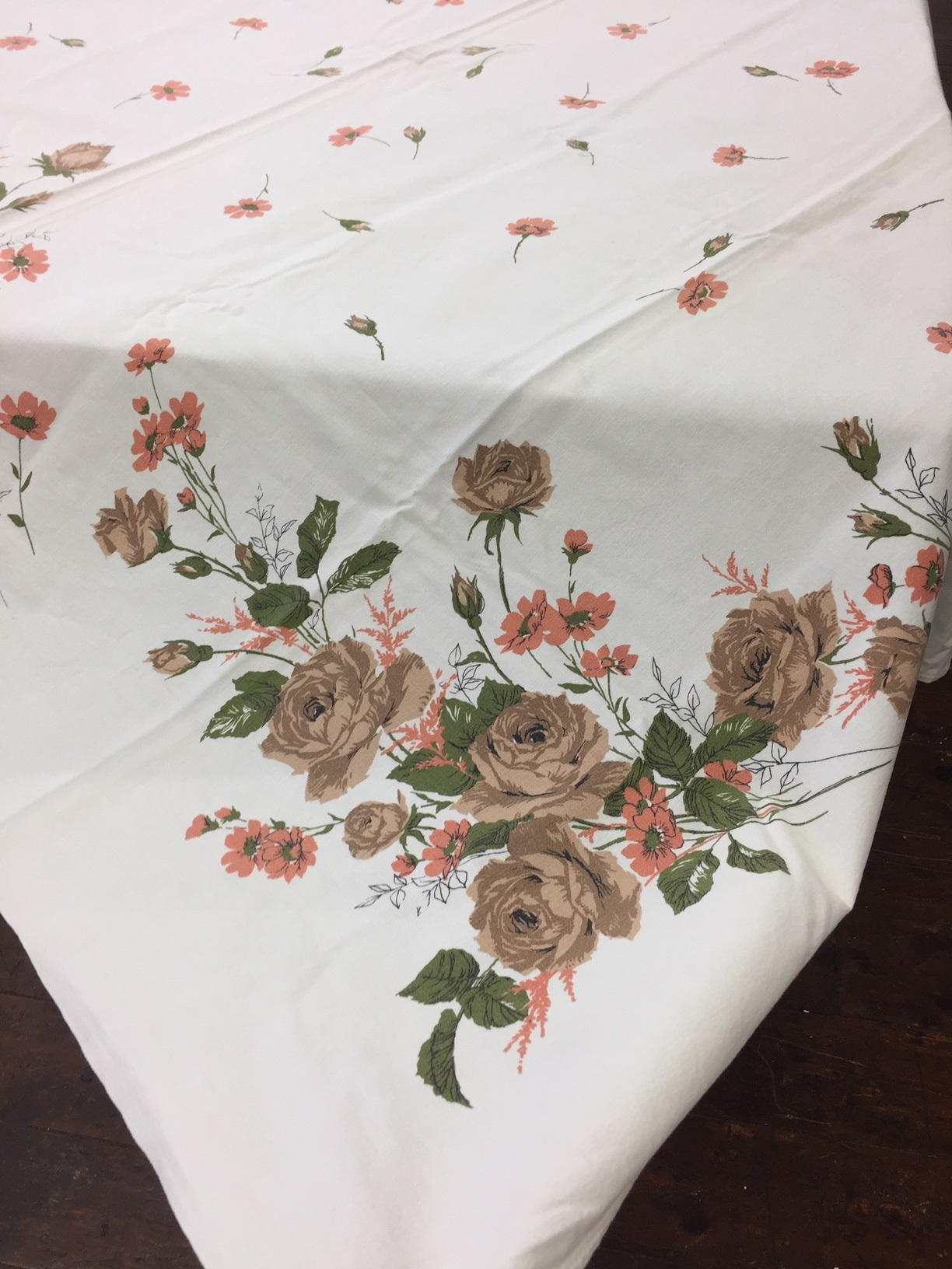 Vintage Tablecloth - Fall Floral