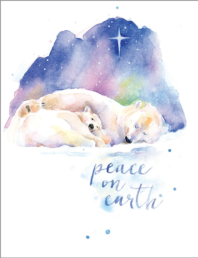 Peace Polar Bears Boxed Cards