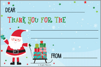 SANTA & SLED Kid Thank You Cards