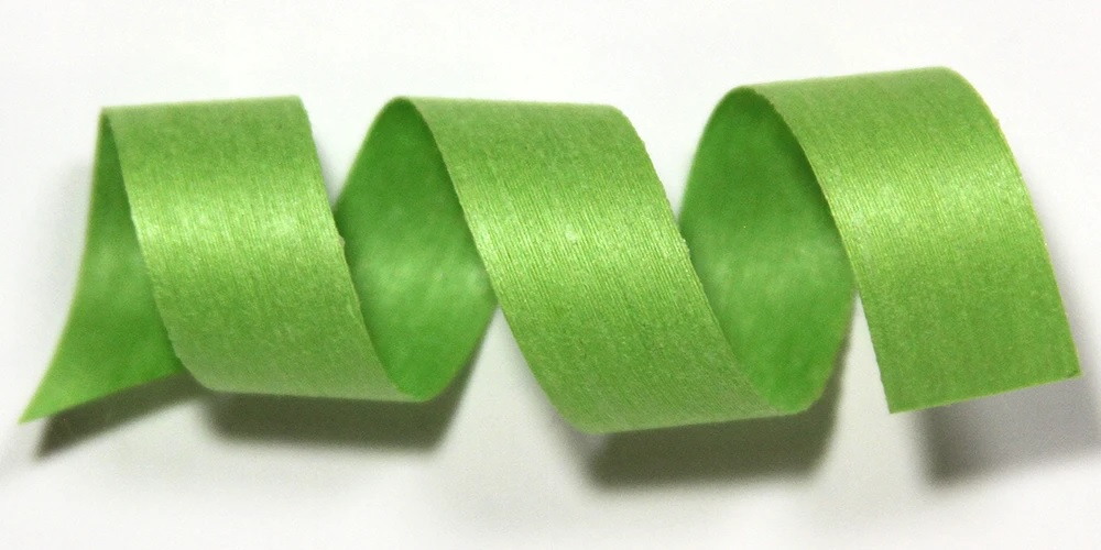 Lime Solid Cotton Curling Ribbon