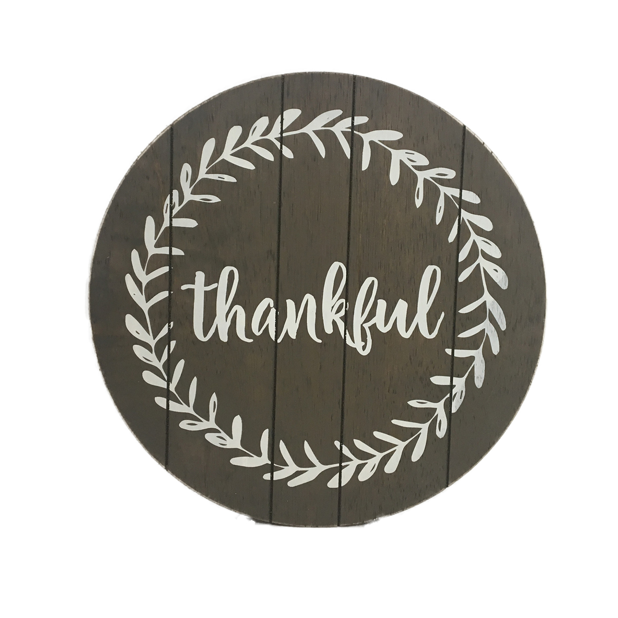 Wood Lazy Susan - Thankful