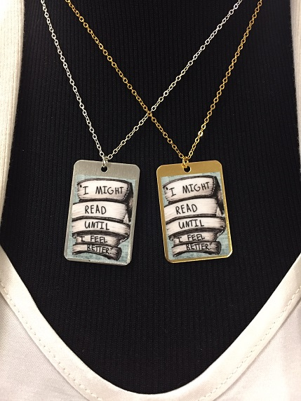 Read Feel Better - Dog Tag Necklace