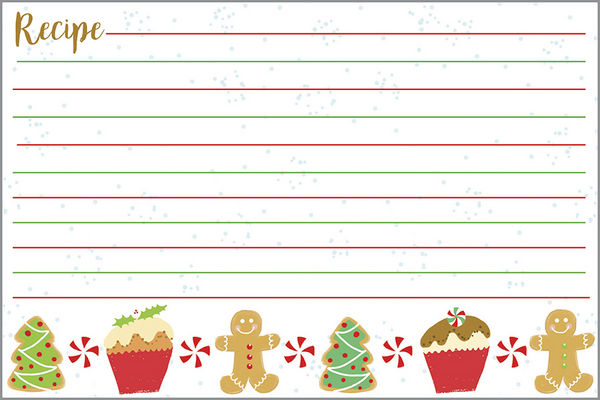 CHRISTMAS TREATS RECIPE CARDS