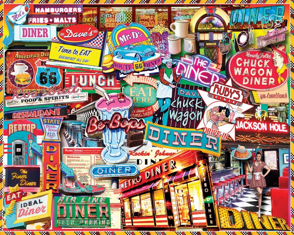 Retro Diner 1000  Pc. Jigsaw Puzzle