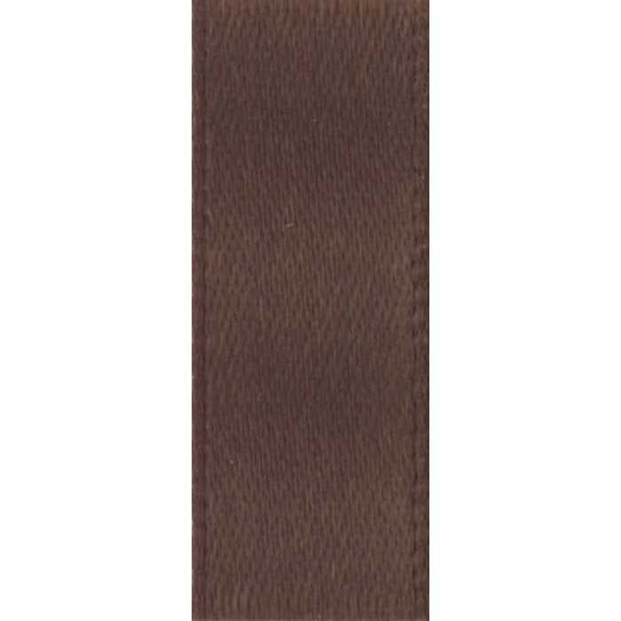 Rich Brown Double Face Satin Ribbon
