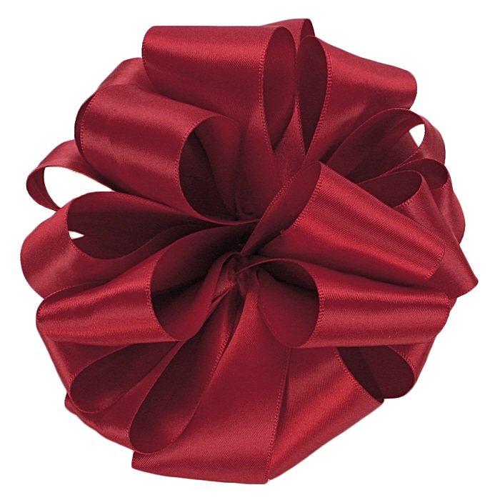 Scarlet Double Face Satin Ribbon