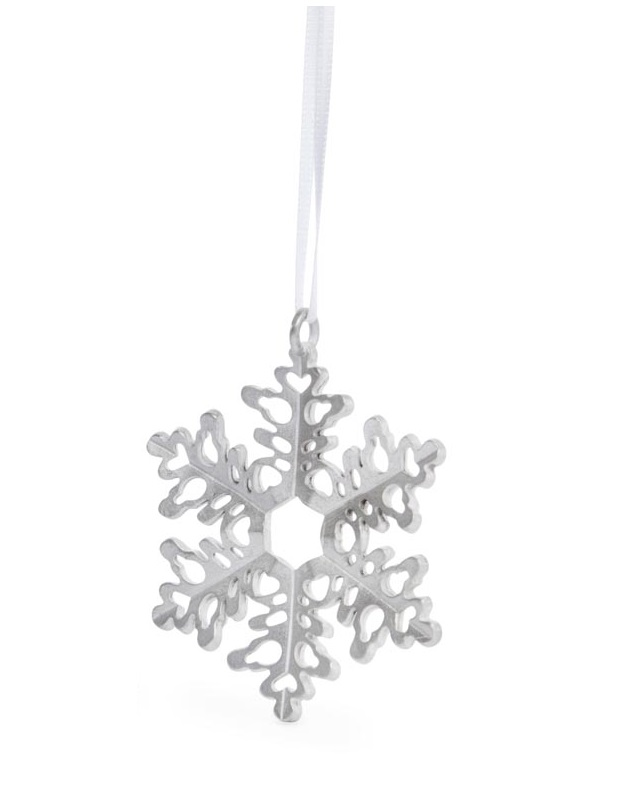 Pewter Snowflake Ornament (#1)