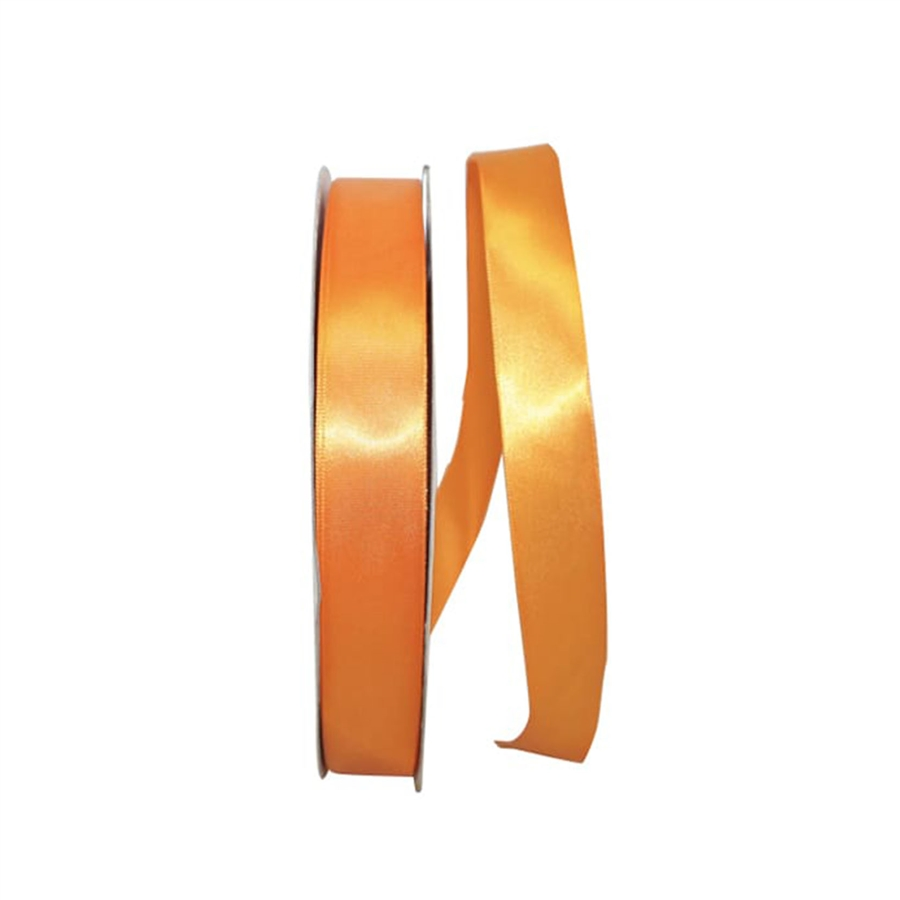 Tangerine Single Face Satin Ribbon