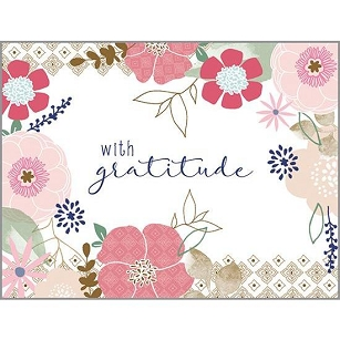With Graitude Floral Thank You