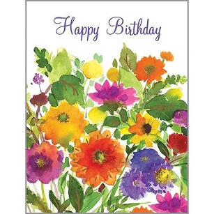 Vibrant Floral Friend Birthday