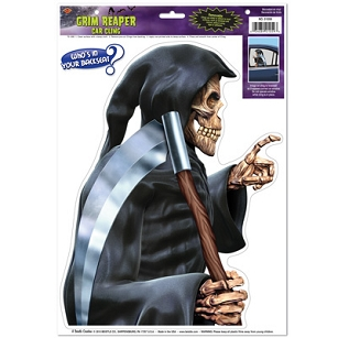 Grim Reaper Backseat Driver Car Cling