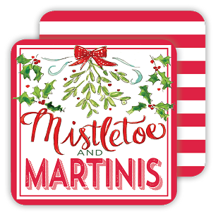Mistletoe and Martinis Coaster