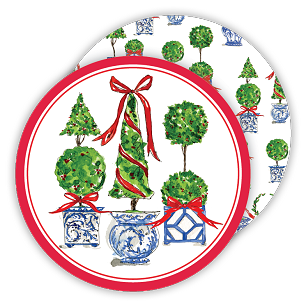 Holiday Topiary Trio Coaster Set