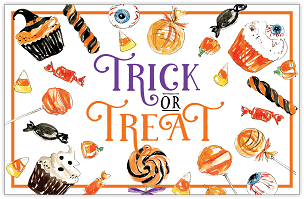 Trick or Treat Candies Placemat