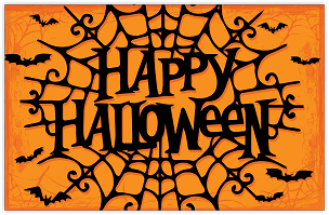 Happy Halloween Spider Web Placemat