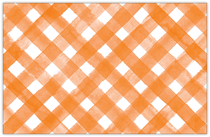 Orange and White Plaid Placemat
