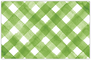 Green and White Plaid Placemat