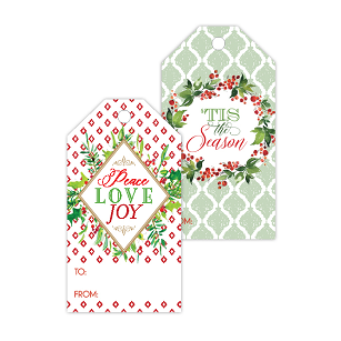 Peace Love Joy/Tis Season Berry Gift Tags